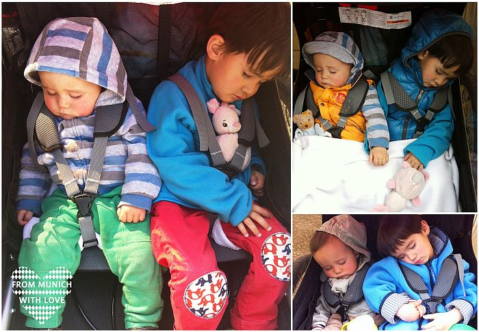 Fahrradanhänger Kinder schlafen