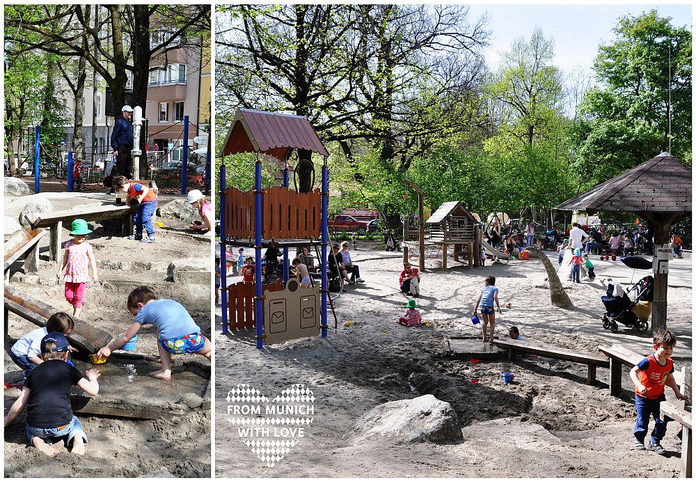 Kind Vom Klettergerüst Gefallen : Spielplatz am glockenbach ein vergnügen für größere und kleinere