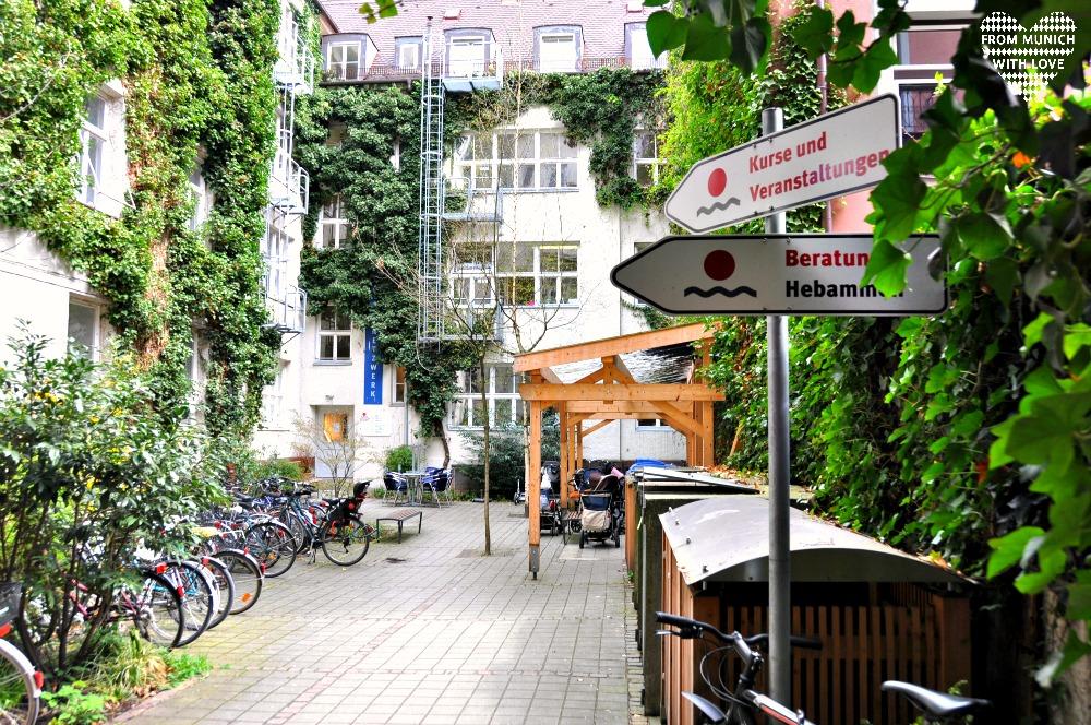 Café Netzwerk in der Häberlstrasse Innenhof