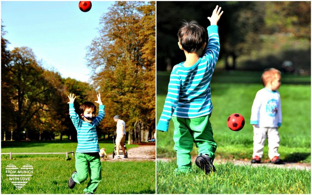 Herbst in München Luitpoldpark