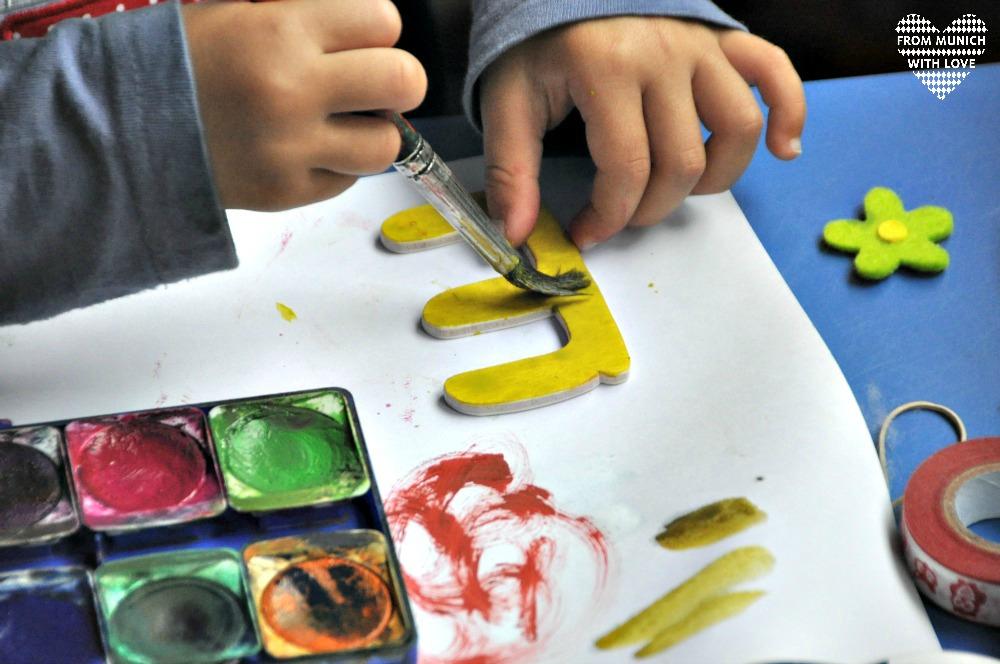 Kindernamen aus Holzbuchstaben