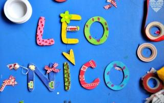 Kindernamen aus Holzbuchstaben zum Basteln