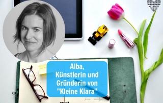 Alba Navas Salmerón, Kleine Klara Kunst und Siebdruck auf Papier und Textil