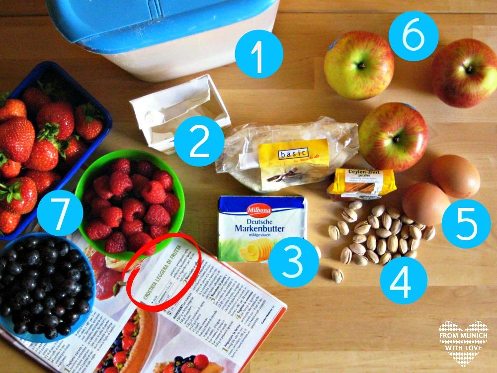 Apfel-Beeren-Kuchen Zutaten