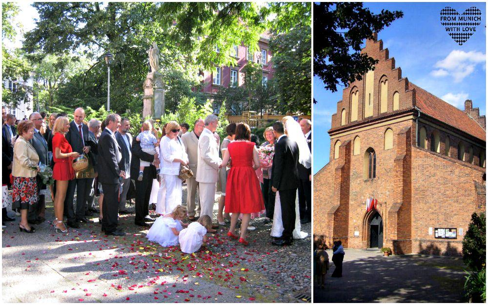 Kirchliche Hochzeit in Warschau Neustadt