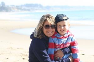 Angela Lehmann mit Sohn, jiipii