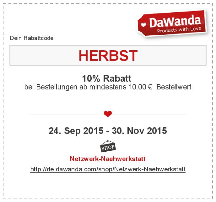 coupon_HERBST Dawanda