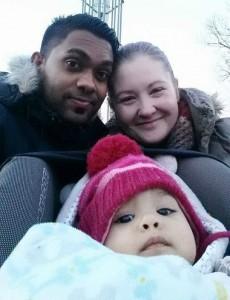 Natalia mit der bilingualen Familie