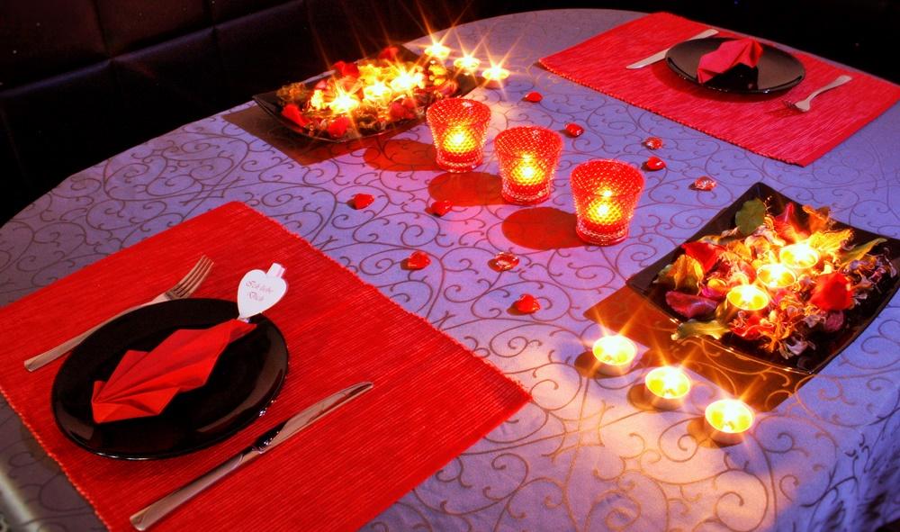 Valentingstag Tischdeko