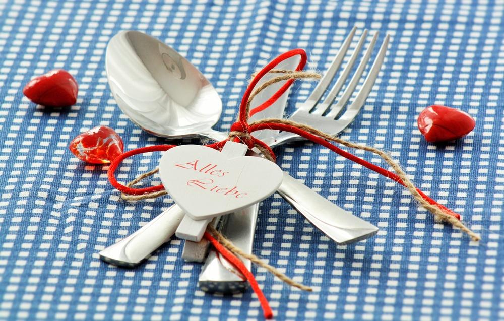 Valentinstag Deko Besteck