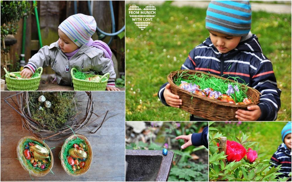 Ostern Garten Eiersuche