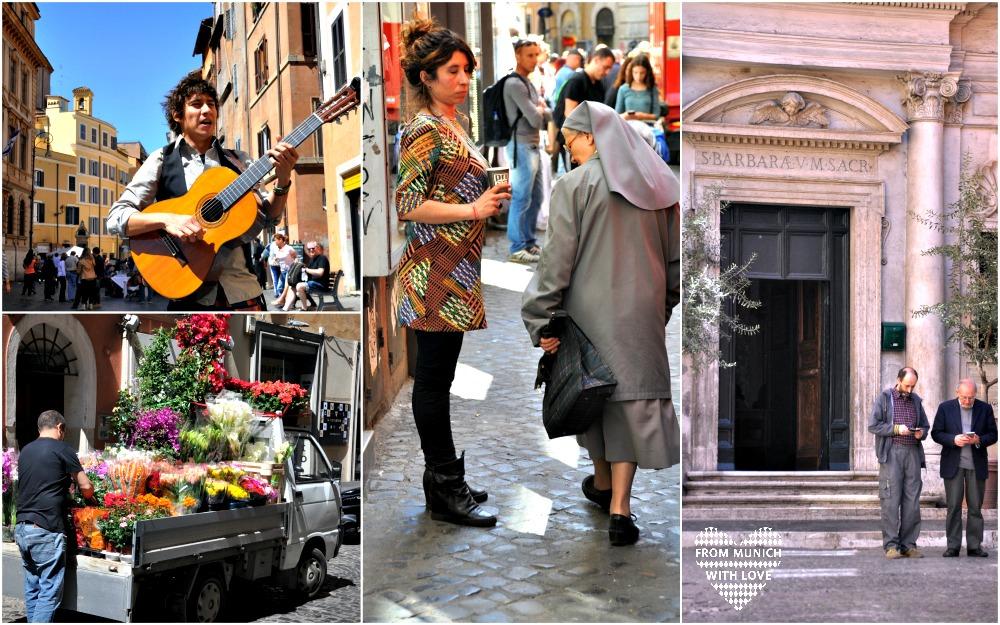 Leute in Rom