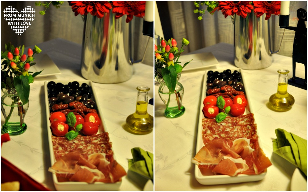 unser candle light dinner zu hause mit gourmet essen from munich with love. Black Bedroom Furniture Sets. Home Design Ideas