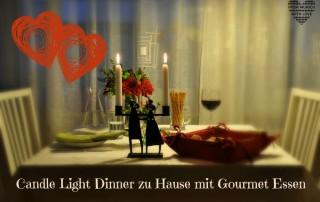 Candle Light Dinner zu Hause