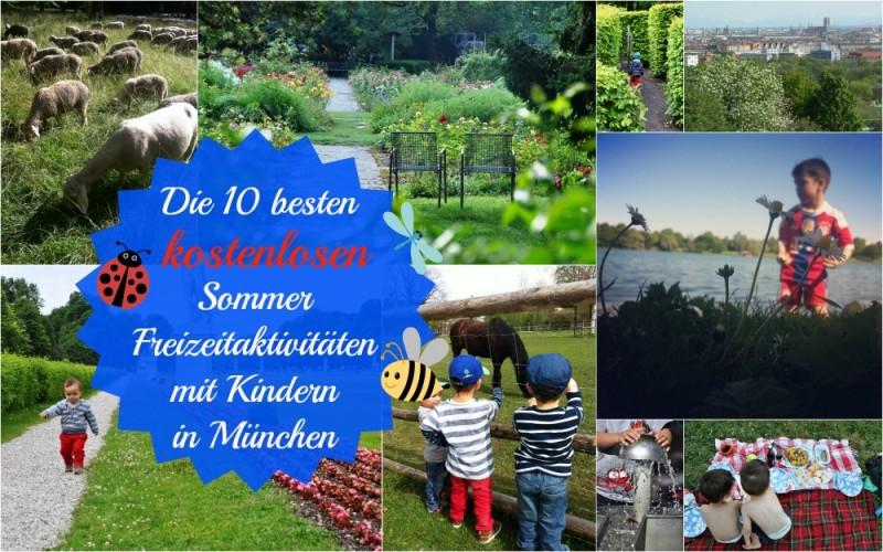 10 kostenlose Sommer Freizeitaktivitäten mit Kindern in München