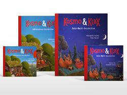 Kosmo und Klax Bücher und CDs