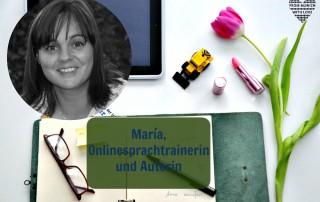 María Piulestán, Onlinesprachtrainerin und Autorin