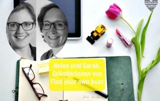 Helen und Sarah, Gründerinnen von Find your own Buzz