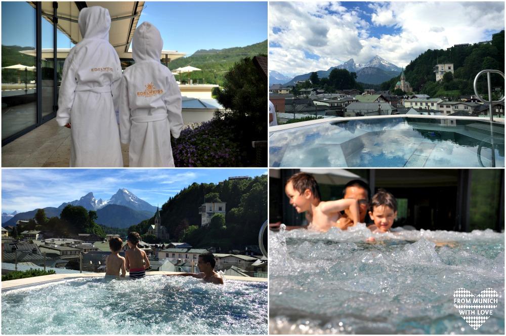 Außenwhirlpool Hotel Edelweiss Berchtesgaden
