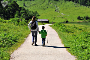 Obersee und Königssee Wanderung mit Kindern