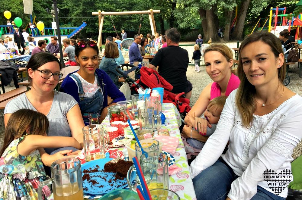 Bloggerinnen Biergarten München