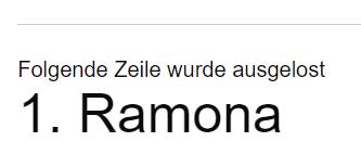 Gewinnerin Ramona