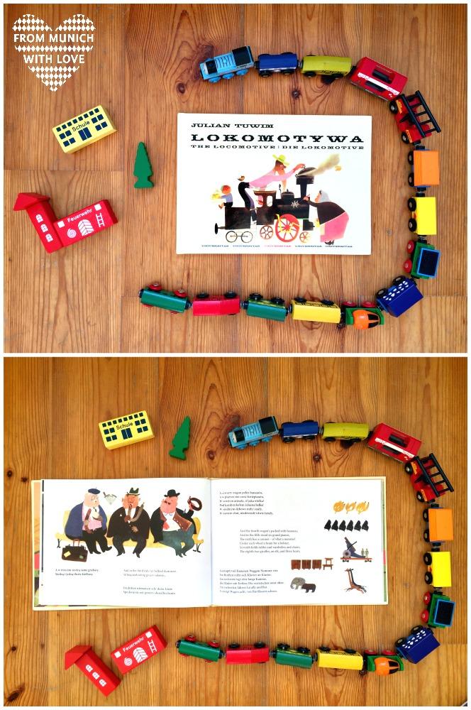 Kinderbücher aus Polen - Lokomotive