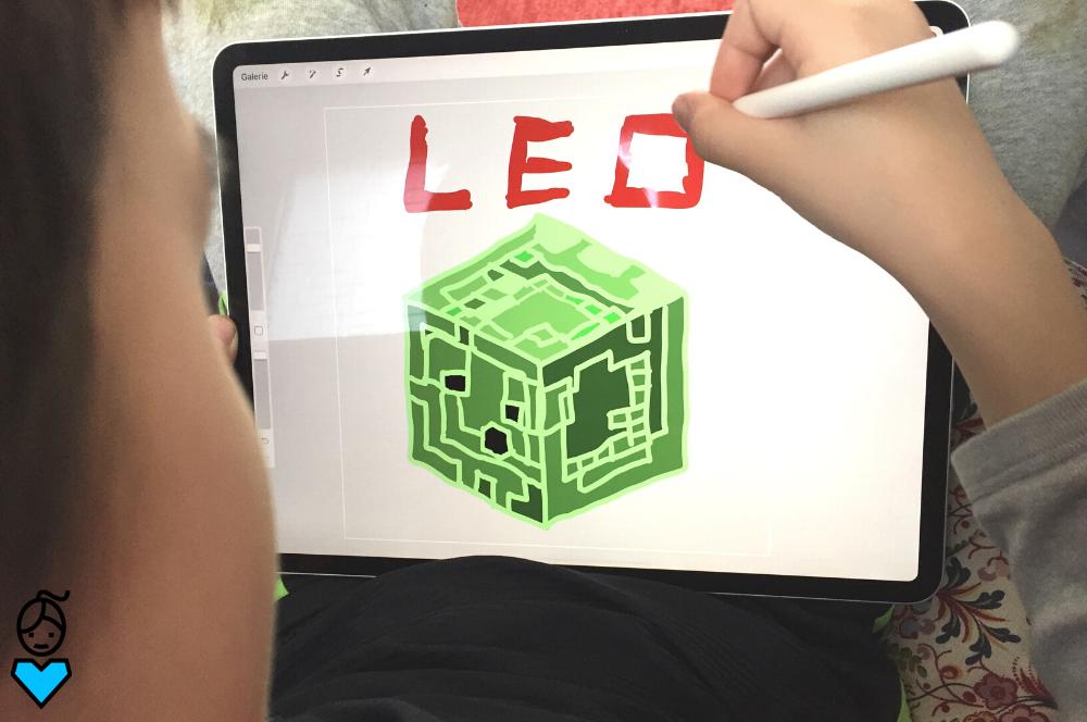 Mit Kindern digital zeichnen_Procreate