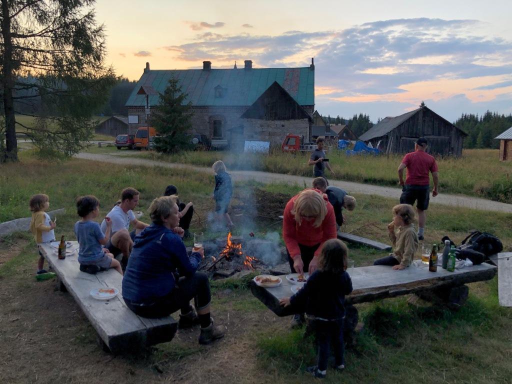 Campen mit der Familie in Polen