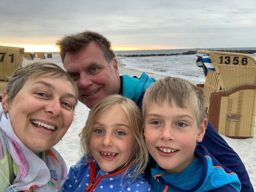Deutsch-polnische Familie auf Reisen